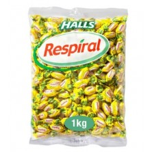 Halls Respiral Limón Mentol 1 Kg