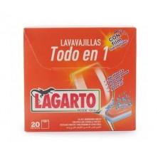 Lagarto Lavavajillas Todo en 1 (20 Pastillas)