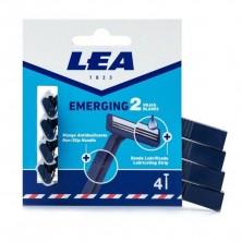 LEA Emerging Cuchillas de Afeitar 2 Hojas 4 uds