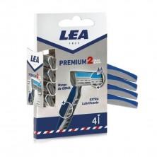 LEA Premium Cuchillas de Afeitar 2 Hojas 4 uds
