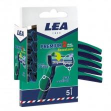 LEA Premium Cuchillas de Afeitar 2 Hojas 5 uds